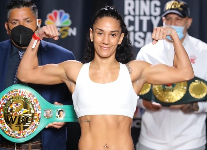 Amanda Serrano vs. Daniela Bermudez Weigh-In Pictures & Video   Boxen247.com
